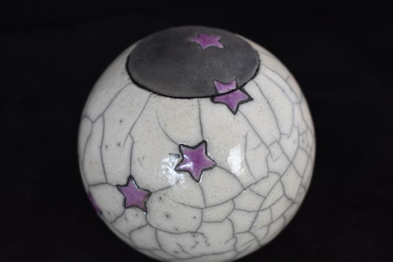 Sterrenurn met lila sterretjes (S)