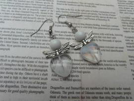 Oorbellen wit engeltje
