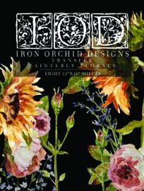 IOD Transfer Painterly Florals