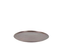 Round Serving Tray antique copper 40 cm
