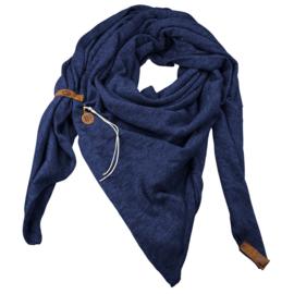 Sjaal Fien Petrol Blauw