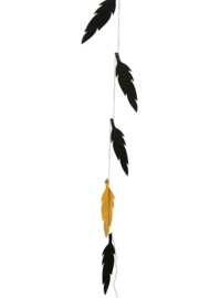 Feather Garland black/gold