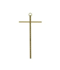 Kruisbeeld -  Messing 15cm