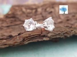 Bergkristal - Oorbellen