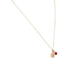 YOGA ketting - 1,5 cm yogaboom hanger met rode robijn 925 zilver