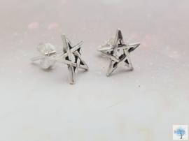 Pentakel - Sterling Zilveren Oorbellen