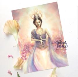 Levend Licht - Kwan Yin - Postkaart