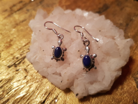 Lapis Lazuli Zilverenoorbellen