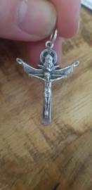 Kruis hanger Zilverkleurig Hlg. Drie eenheid (Vader, Zoon en Heilige Geest)