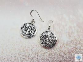 Magische Levenboom - Sterling Zilveren Oorbellen