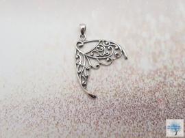 Schitterende Vleugel - Sterling Zilveren hanger