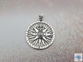 Kompas van Wijsheid -  Sterling Zilveren hanger