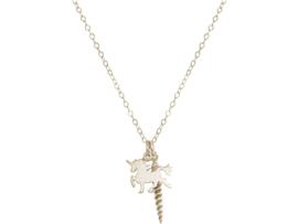 Eenhoorn met Hoorn Zilverenketting - 925