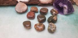 Regenwoud Jaspis - Knuffelsteen M