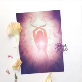 Ik ben de bloem - Artprint