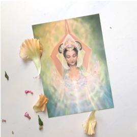 Hart van compassie - Kwan Yin postkaart