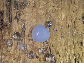 Blauwe Chalcedoon - Hart