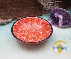 Kleine Schaal Levensbloem - Oranje