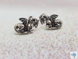 Drakenoorbellen - Sterling Zilveren oorbellen