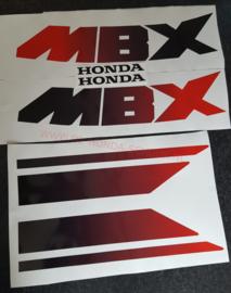 honda mbx regenboog tank sticker set
