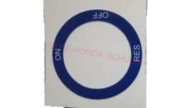 benzinekraan sticker nsr 50 eerste type blauw