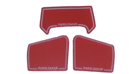 sticker set parijs dakar honda mt rood