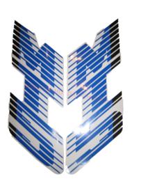 sticker set tank zwart/blauw mt 88/89