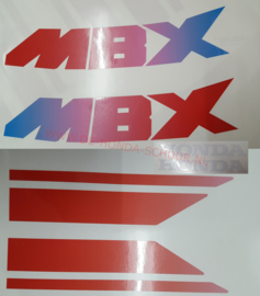 honda mbx regenboog tank sticker set (opnieuw geproduceerd gelijk aan origineel) )