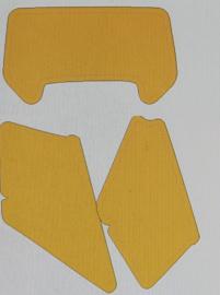 stickerset kappen  donker geel