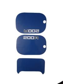 mtx 200 kappenset sticker blauw