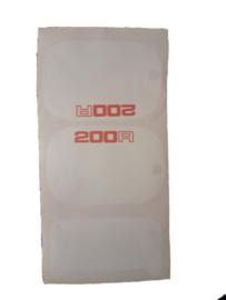 mtx 200 kappenset sticker wit
