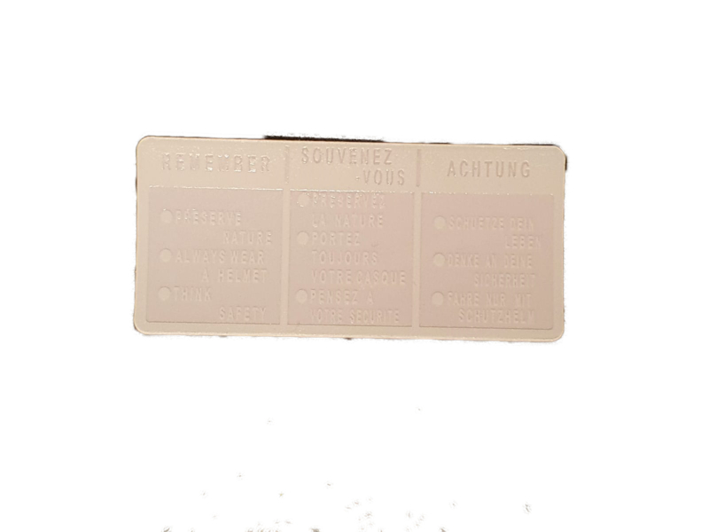 tank sticker verschillende modellen (transparant met witte opdruk)