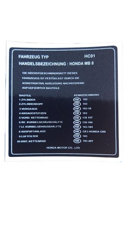 sticker boven kant tank mb8 zwart