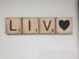 Scrabbel letters hout 10x10