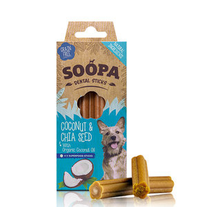 Soopa dental sticks kokosnoot/chia zaadjes