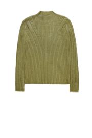 Body hugginf pullover wurg knweedling details
