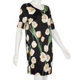 Jurk Lady Tulip, 95% zijden (stretch)