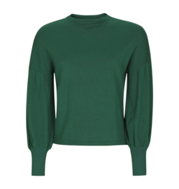 Trui Ebba Turtleneck, zwart en groen
