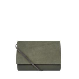 Charles Suede Crossbody Bag Olive
