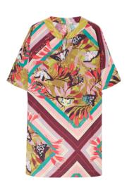 10 FEET jurk satijn vlinder Mustard