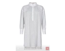 Lange blouse broderie wit