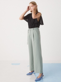Ann Wide Pant Green Milieu