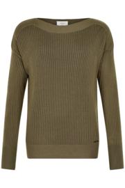 Pullover nualannis olijgroen