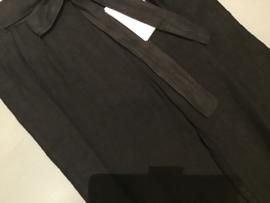 Broek linnen zwart