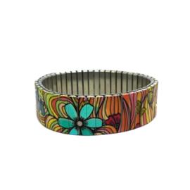 Banded Amsterdam Bracelet Squiggle Flower Pop