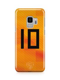 Oranje rugnummer hoesje Huawei smartphone softcase
