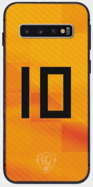 Oranje nummer 10 telefoonhoesje Samsung Galaxy S10 softcase
