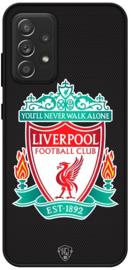 Zwart Liverpool hoesje Samsung Galaxy A52 softcase