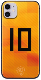 Oranje rugnummer 10 telefoonhoesje iPhone 11 softcase