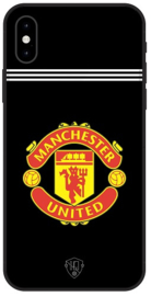 Zwart Manchester United hoesje iPhone X softcase